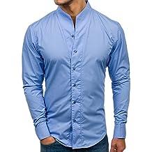 best service 058e7 a71cf Amazon.it: camicia bianca coreana - Blu