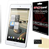 [Pack of 2] TECHGEAR® Acer Iconia A1 Tablet (Model no A1-830) ULTRA CLEAR Screen Protector Guard Covers With Screen Cleaning Cloth (2x Ultra Clear)