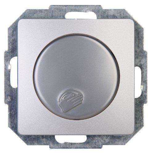 """Kopp Tast-Dimmer Dimmat stufenlos verstellbar, für Glühlampen und Halogenlampen, 40-400W/VA, UP, Touch-Dimmer \""""Paris\"""" mit Phasenanschnitt, leise, für konventionelle Trafos, silber-farben, 803620085"""