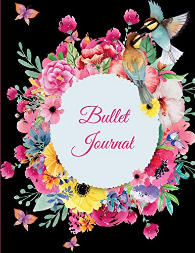 Bullet Journal: Beauty Black Floral, 8.5