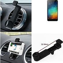 Titular Smartphone para el coche para Xiaomi Redmi Note 3 (32 GB). Parrilla del coche montaje del sostenedor del coche para el teléfono inteligente. De aplicación universal. Negro. Fácil de instalar, sujeción segura. Utilizar el teléfono como un dispositivo de navegación, o hacer llamadas durante la conducción a través del kit de coche. Simple, funcional, segura, cómoda, universal.