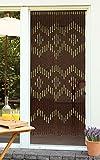 Dekorationsvorhang aus Bambusstäben, bunte Holzperlen und Fruchtkerne, 90 x 200 cm