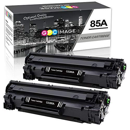 GPC Image kompatible Toner als Ersatz für HP CE285A 85A für Laserjet Pro P1102W P1102 P1106 P1108 P1109 P1109W M1130 M1136 M1132 M1130 M1132 M1136 M1210 M1210MFP M1212 (Schwarz, 2er-Pack, 3200 Seiten) - 1600 Inkjet