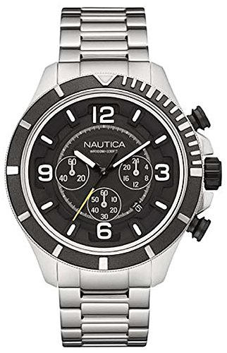 Nautica nst-450 Womens Analogue Quartz Watch with Stainless Steel Bracelet NAI21506G