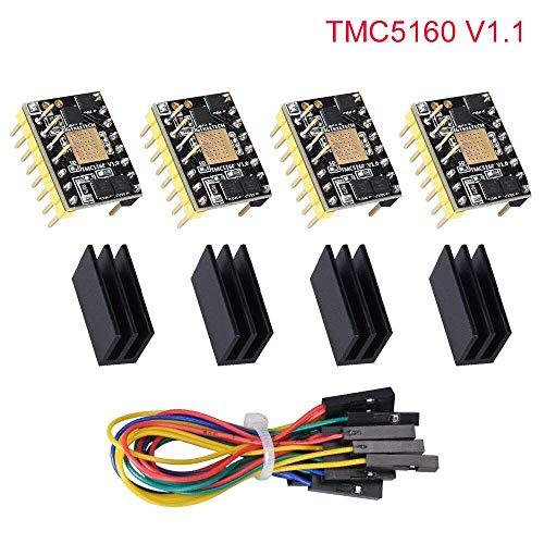 Kingprint TMC5160 v1 1 Stepper Motor Stepstick Mute Silencieux Driver  Support SPI avec dissipateur thermique pour carte de contrôle d'imprimante  3D