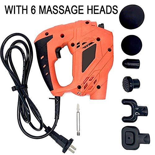 Muscle Fascia Deep Tissue Fascia Massage Gun Muscle Abnehmen Chiropraktik-Massagegerät mit 6 Arten von Köpfen Percussive Massager-Recovery Fördern Sie die Durchblutung Elektrische Massager,Uk -