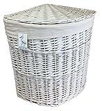 groß weiß gemalt Eck Wäschekorb Bettwäsche Wäsche mit abnehmbare Futter Gebogene