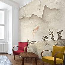 Fotomural - No.MW8 Japanese Silence - Mural cuadrado papel pintado 3D fotomurales murales pared papel para pared foto mural pared barato decorativo Dimensión Alto x Ancho: 240cm x 240cm