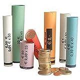 3701 Münzhülsen vorgefertigt gerollt + gemischt von 1 Cent bis 2 Euro (119er Pack)