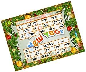 Party Stuff New Year Theme Tambola Housie - Classic New Year Background kukuba 2 - Duet Kukuba (16 Cards) | Kitty Games