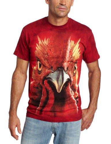 The Mountain - - Männer Hahn-Kopf T-Shirt, 4X-Large, Multi (Western Shirt 4x)