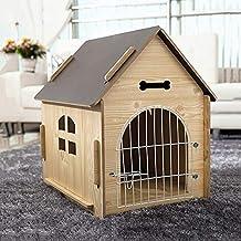 HeiPlaine - Sofá para Mascotas, para Interiores y Exteriores, casa de Madera Maciza,