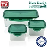 Genius Nicer Dicer Fusion Smart–Container | 6Pcs | - Best Reviews Guide