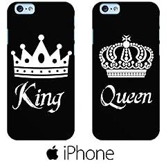 Idea Regalo - Agro grafica COPPIA COVER fidanzati LOVE King Queen Rigida per iPhone 6 6s 7
