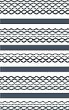GRAZDesign 750056_57_841 Wandtattoo Lininen Retro | Wandbanner Sticker Wohn-Bereich | Wandaufkleber als Wand-Dekoration (90x57cm//841 Blue Grey)