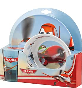 Bbs 122646 - Planes Mealtime Set con Bicchiere Ps, 2 Pezzi in Melammina