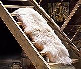ESTRO | Doppio Tappeto in Pelle di Pecora Icelandic | Brillante e Lussuoso | varietà di Colori (Bianco, 170 cm)