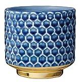 Bloomingville Vaso da fiori in grès blu