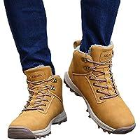 Zapatos de hombre JiaMeng Zapatos con Cordones Botas Resistentes al Aire Libre Resistentes al Deslizamiento al Aire Libre Que suben los Zapatos de los útiles