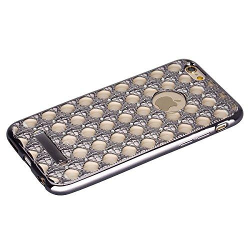 iPhone 6S Hülle,iPhone 6 Hülle,iPhone 6 Case,ikasus® TPU Silikon Hülle Schutz Handy Hülle Case Tasche Etui Bumper Crystal Case Hülle für Apple iPhone 6S / 6 (4,7 Zoll) Durchsichtig mit Christmas Snowf Diamant #1:Grau