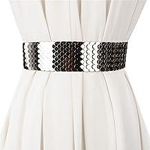 LONFENN Moda Sello De La Cintura Señora Cinturón Ancho Personalidad Metal Patrón Decoración Vestido con Cien