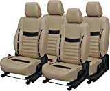 #4: Khushal Leatherite Car Seat Covers Premium Quality Designer Front and Back Seat Cover Set for Renault Kwid with Free Steering Cover