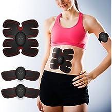 Simpfun Electroestimulador Muscular Abdominales EMS Ejercitador del Cuerpo de Los Músculos de Brazos y Piernas Masaje