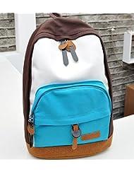 frixie (TM) mujeres colores lienzo mochilas niña Lady estudiante escuela bolsas de viaje bolsa de hombro