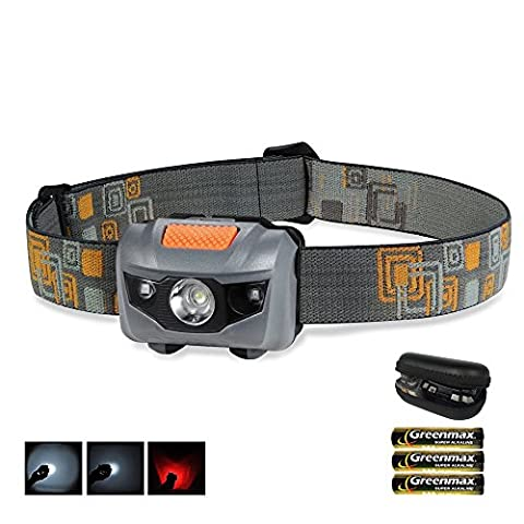 Coomatec Waterproof Headlamp, Light Weight Comfortable LED Head Torch, 100 Lumens Headlight as walking/ fishing/ cycling/ working