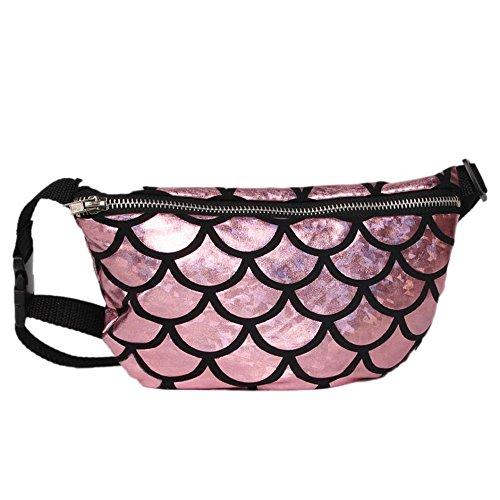 Longra Donna Scatola multifunzionale di pesce Mini sacchetto di vita Rosa