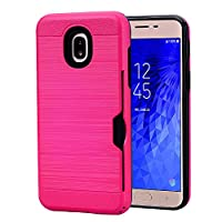 ‏‪Card Slots Wallet Holder protection Case For Samsung Galaxy J7 2018 Case 5.5inch‬‏