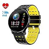 CanMixs CM10 Smart Watch Uhr, IP67 Wasserdichte Sportuhr Activity Tracker Smart Armband mit Pulsmesser, Kalorienzähler, Schlafmonitor für Damen und Herren Anruf SMS...