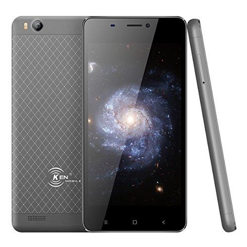 Smartphone Pas Cher,Ken V6 Telephone Portable Debloqué 3G ultra-mince Android 6.0 4.5 Pouces-1700mah Capacité- Quad Core 1 Go 8 Go Rom Double SIM WiFi GPS Bluetooth (Gris)