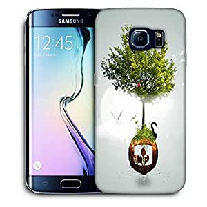 Snoogg Two Small World Printed Protective Phone Back Case Cover For Samsung Galaxy S6 EDGE / S IIIIII