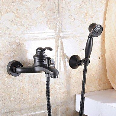 SUNNY KEY-Bathroom Sink Taps@Aquafaucet Oil Rubbed Bronze Wall Mount Handheld Tub Shower Faucet shower mixer tap set Single Handle Wall Mount