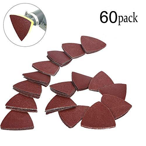 60 piezas de lija triangular con gancho y lazo