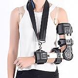 HRRH Medizinische Armfixierung Verstellbare Ellenbogengelenksgelenk-Stützprotektor-Arm-Bruch-Schutz-Gliedmaßen Ellenbogengelenk-Prothesen-Orthesen-Samt-Material der Aluminiumlegierung, Left