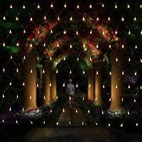 Salcar LED Lichternetz 3*2 Meter für Weihnachten Deko Party Festen, Innen, 8 Lichtwechselprogramme (Warmweiß)