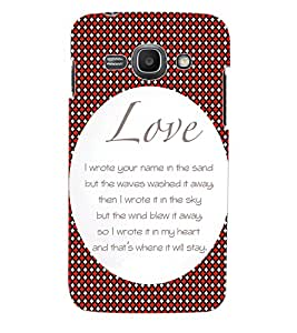 ColourCraft Love Quotes Back Case Cover for SAMSUNG GALAXY ACE 3