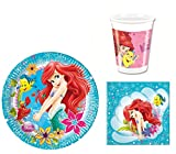 Partyset 36-tlg. * Ariel Beautiful Mermaid * Teller / Becher / Servietten