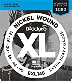 D'Addario EXL148 XL Nickel Wound Extra Heavy  (.012-.060) Electric Guitar Strings