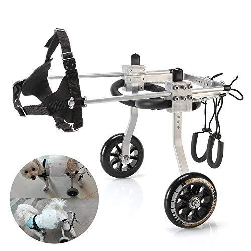 Pet Chair Rollstuhl, verstellbar, für Hunde mit Behinderungen, für Hunde mit Behinderungen, Rücken, Beinen, Rehabilitation, Aluminium, Large (Rollstuhl Billig)