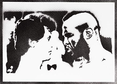 Póster Rocky Balboa Y Mister T Grafiti Hecho A Mano
