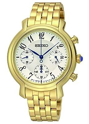 Seiko analógico de cuarzo para mujer-reloj cronógrafo chapado en acero inoxidable SRW874P1 de Seiko