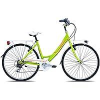 Legnano Ciclo 261Tropea, City Bike para Mujer, Mujer, Ciclo 261 Tropea, Verde/Arancione, 46