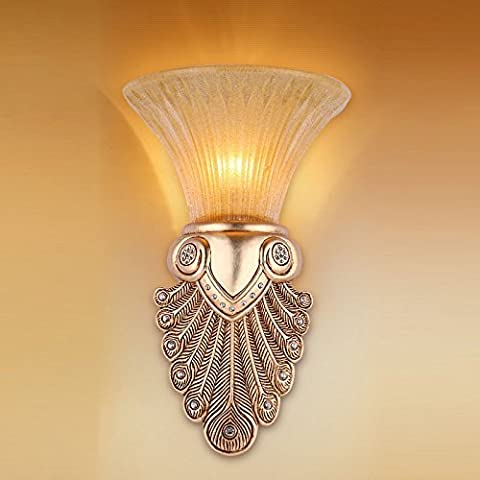 CNMKLM europeo resina oro penne di pavone portico Lampade da