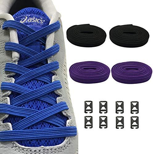 d48170009b550 Ueither Lacets Élastiques No Tie Lacets pour Chaussures Enfants et Adultes  - Une Taille pour Tous