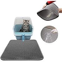 Plenmor Alfombrilla para Arena de Gato,Cat Litter Mat, Honeycomb Cat Litter Tray Mat Estera de alimentación Impermeable para Gatos, no tóxico ftalato y BPA, fácil de Limpiar (Gris)