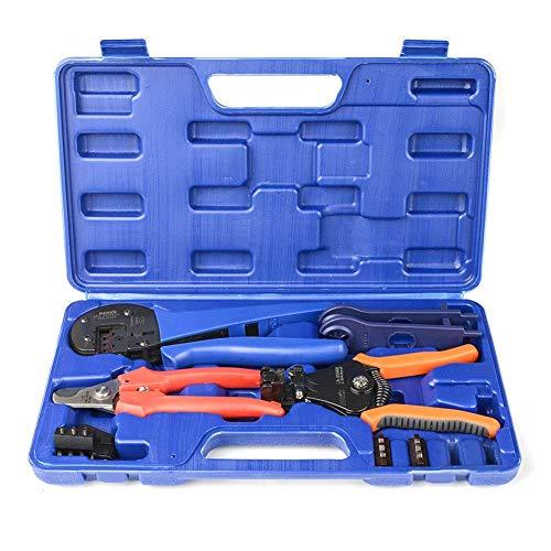IWISS-Crimp-Set mit Draht-Ausstecher, Stripper, MC3 MC4 Crimper und MC4 Stecker Montage und Demontage Werkzeug Solar-Panel-Kit