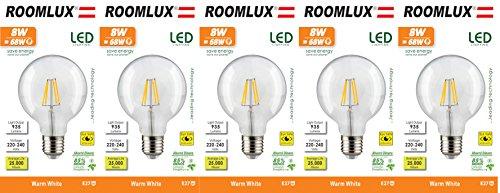 5X Roomlux E27 G125 8W Clear 935 lm 2700K;led e27 bulb ;light bulbs ;led filament bulb; led light bulbs; led light bulb; led bulb; light bulb